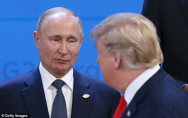 A senate intelligence report that was compiled after the Mueller investigation wrapped up found that Trump wrote several gushing letters to Putin before becoming president, but was unable to investigate his financial links to Moscow (file image)