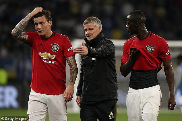 The arrival of Upamecano would be a blow for Victor Lindelof (left) and Eric Bailly (right)
