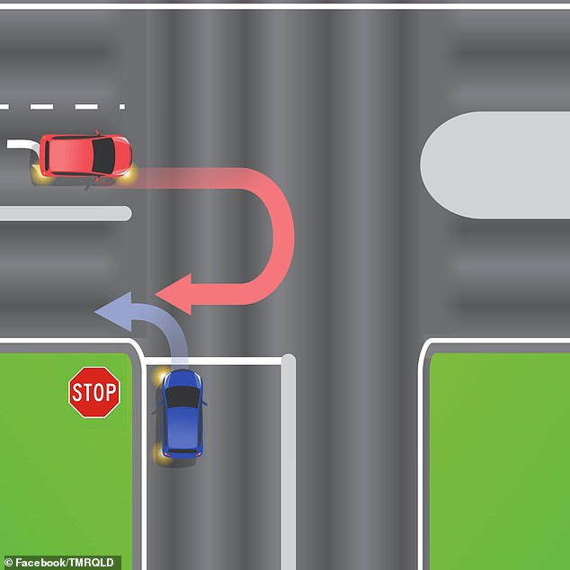 This photo aimed to test motorists' knowledge but sparked an online debate