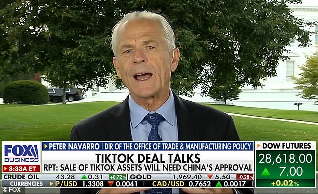 White House Trade Advisor Peter Navarro on Monday warned the United States would target more Chinese-made apps after TikTok and WeChat