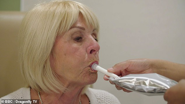 Dr Shidrawi ordered two more tests; one measuring her production of polypeptide an another testing how long food takes to leave her stomach through a gastric emptying study (pictured)