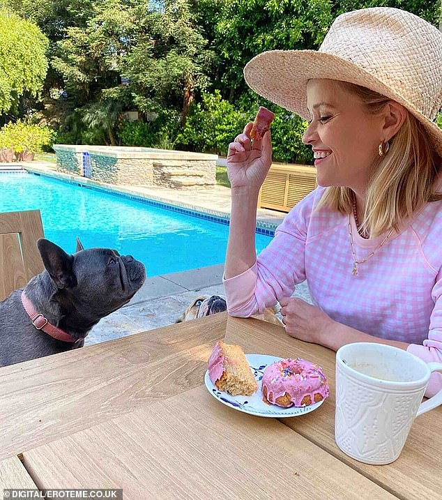 Busy: Reese juggles caring for her family with running production company Hello Sunshine as well as starring in a string of high-profile projects. She also has her clothing line Draper James