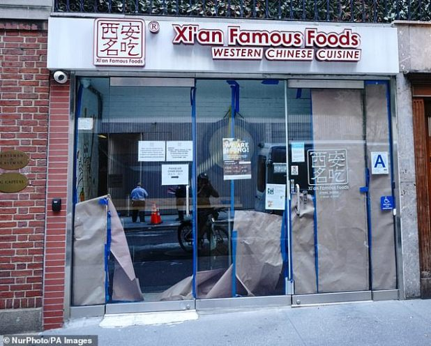 Reports came in the form of a tough approach to the already struggling restaurant, with de Blasio laying off 22,000 city workers in the hope that the state government would provide the money.  The picture above is a closed restaurant at 54th Street in Manhattan