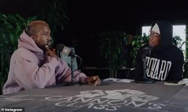 West discussed his unlikely presidential bid in an interview with Nick Cannon's Cannon Class podcast airing Tuesday. Cannon shared a preview of the interview on Instagram on Monday