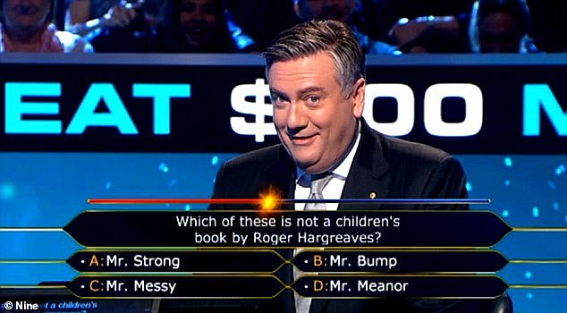 Quarantine: The quiz show's host Eddie McGuire (pictured) is believed to have arrived in Queensland and is currently in quarantine