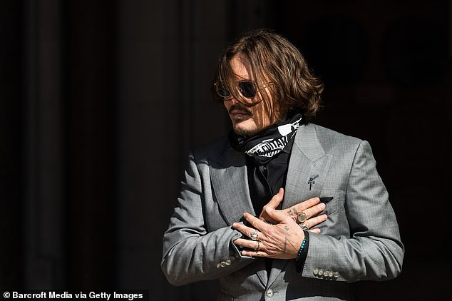 Heard's case has seen Depp (pictured) hit with 14 allegations of domestic violence, claims he defended during three days of testimony