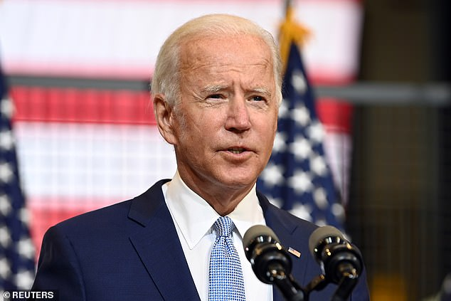 Joe Biden on Monday had ridiculed Trump for some of the attacks he's made about the Democrat, while making the case he's the president who can bring people together, the opposite of Trump, who Biden said was 'poisoning our very democracy'