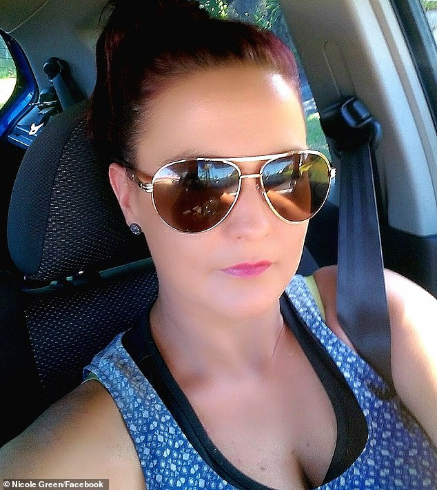 Nicole Green, 35, died instantly when her Mitsubishi Mirage crashed head on into a black BMW sedan about 7.15am last Thursday, August 28