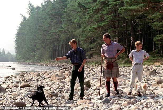 The brothers spent every summer on the Scottish estate with the rest of the family