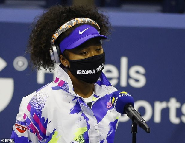 Osaka revealed that she would wear the mask of different shooting victims' names each round