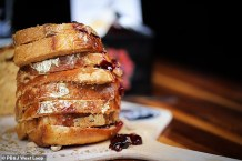 Chicago Restaurant PB&J Offers 0 Peanut Butter and Jelly Sandwich Complete with Gold Leaf-dusted Bread and Fancy Jam