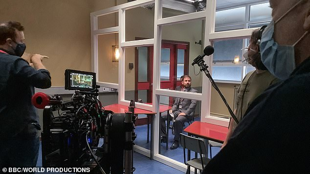 It's back! Line Of Duty has resumed filming for series six as it shared a socially-distanced snap on set with Martin Compston as his character DS Steve Arnott earlier this week