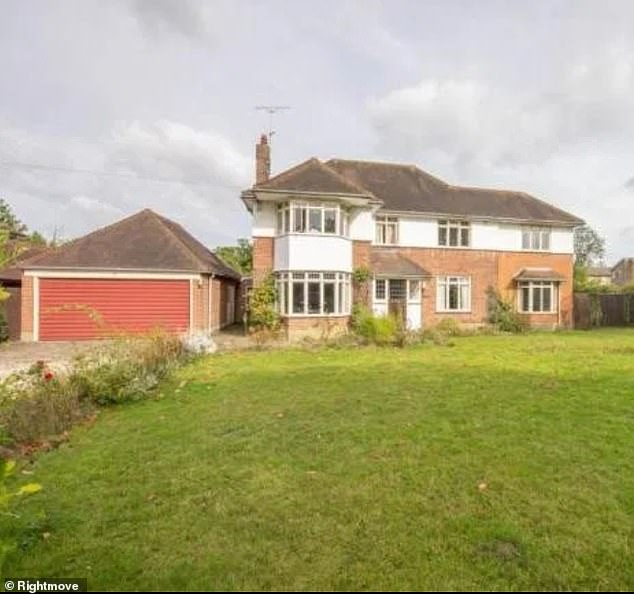 Off they go: The reality star, 30, revealed transforming the 1920s property into a five-bedroom home will take a year after neighbours deemed their plans 'too grand' (home pictured)