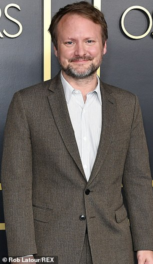 Behind the scenes talent: Star Wars' Rian Johnson (above) and Rosamund Pike will be part of the executive producing slate along with AMC's The Terror: Infamy co-creator Alexander Woo, and other professionals