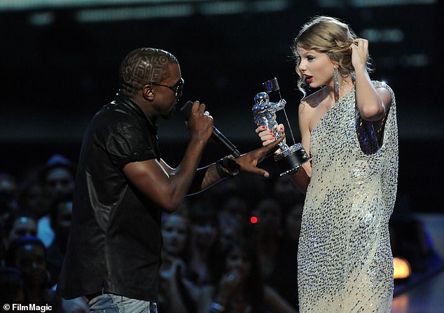 Music video: The 43-year-old rapper infamously ran on stage at the music awards ceremony over a decade ago whilst Taylor - who was just 19 at the time - was accepting the award for Best Female Video for her song You Belong With Me because he favored Beyoncé's video