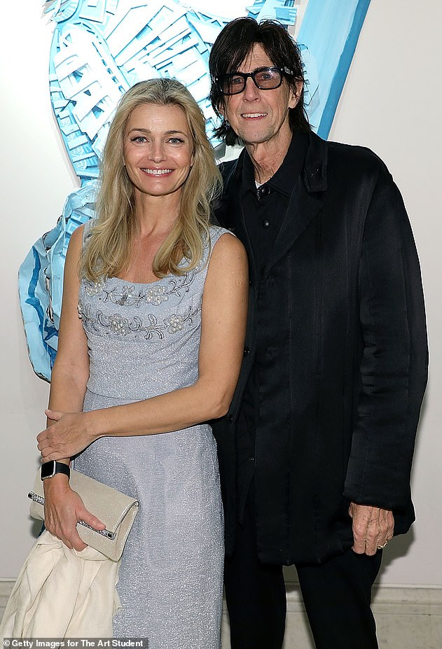 Controversy: At the time Ric (pictured with Paulina in 2018), who passed away in September 2019, was still married to Suzanne - however the couple divorced in 1988