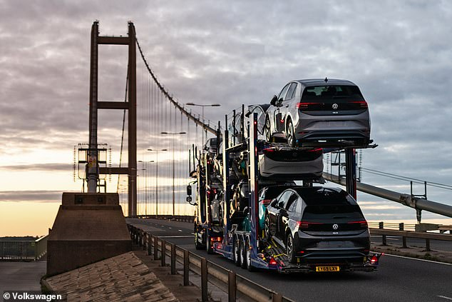 The all-new electric cars will head to dealers where they will be prepped for delivery to customers later this month