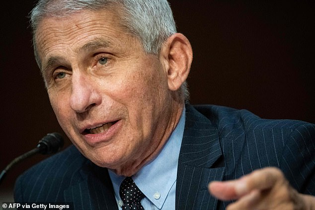 Top US infectious disease expert Dr Anthony Fauci told Kaiser Health News that, if the data is convincing enough that coronavirus vaccines are safe and effective, trials could be halted early to expedite vaccination for those who got placebos and FDA approval (file)