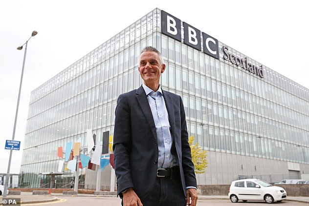 Pictured: Tim Davie, new Director General of the BBC, arrives at BBC Scotland in Glasgow for his first day in the role on September 1, 2020