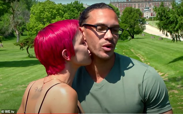 At last: Dylan, 30, from Chicago, Illinois, finally reunites with his girlfriend Heather on Friday night's episode of the We TV reality series Love After Lockup