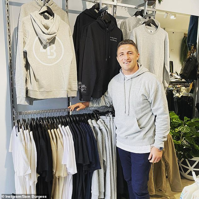 Having a laugh: Former NRL star Sam Burgess (pictured) has hit back at Kanye West for calling him 'poor' by sending the troubled rapper a 'care package'
