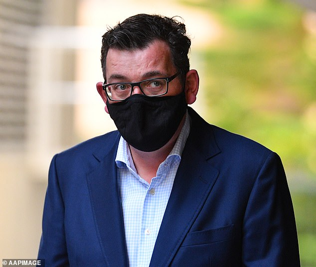 Daniel Andrews (pictured Monday) has been accused of 'decimating' Victoria after it emerged an extra 30,000 residents lost their jobs due to the state's second coronavirus lockdown