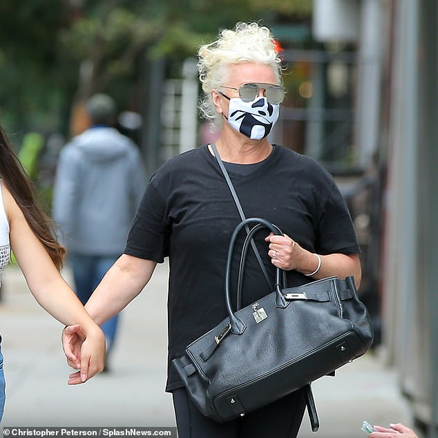 Quirky:The Hide and Seek actress protected herself with a quirky panda face mask