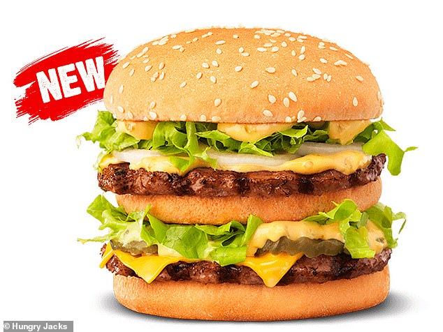 McDonald's have sued Hungry Jack's over their 'Big Jack' burger (pictured) and trademark