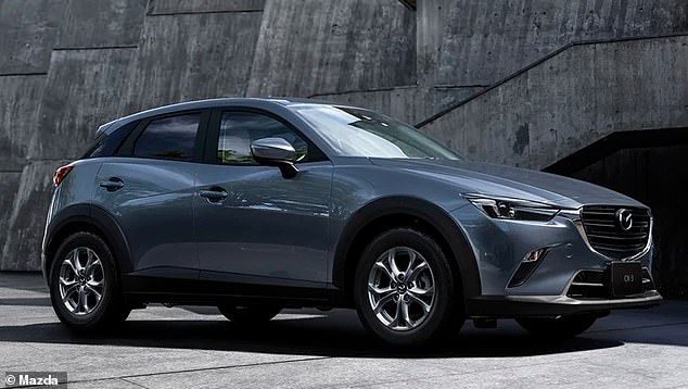 The smaller CX-3 enjoyed a smaller 3.6 per cent annual sales increase
