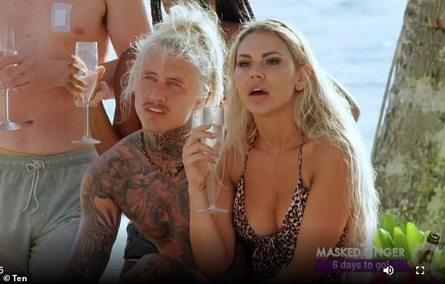 Disastrous: Viewers watched Kiki navigate her way through a tricky and short-lived relationship with womaniser Ciarran [pictured together] on this year's Bachelor in Paradise