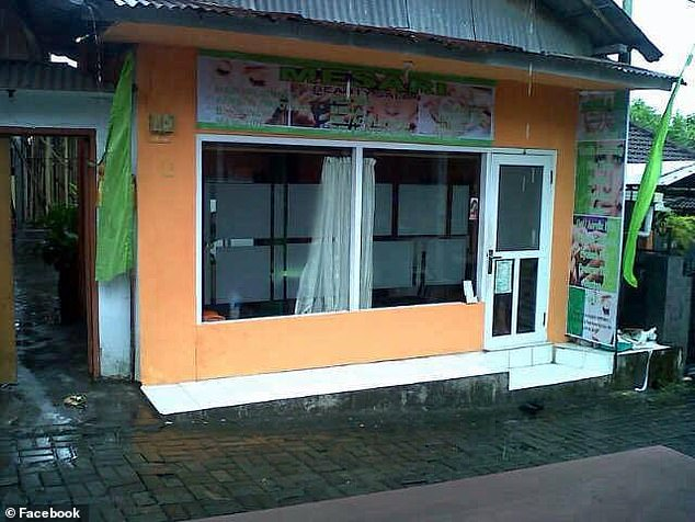The mother owned Mesari beauty studio (pictured), a popular salon in Bali frequented by overseas visitors