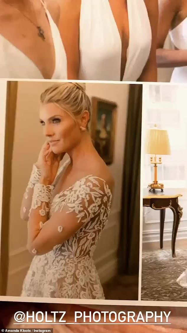 Everything she wanted: 'It was the perfect wedding. Everything went so well,' she continued. 'We danced all night,' she said, while showing photos from the big day