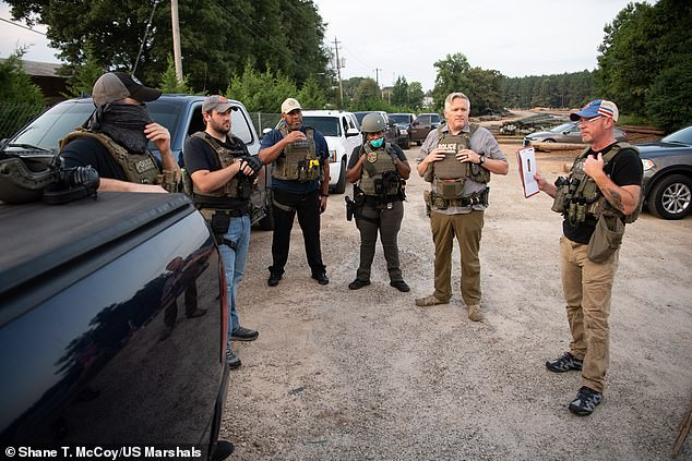 US Marshals in Georgia, pictured, carried out an operation similar to that in Ohio and rescued 39 children