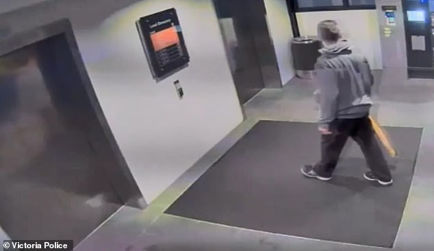 A man believed to be Dick was caught on CCTV heading into an elevator at the Westfield where his brother was murdered