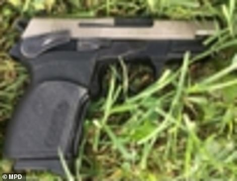 Police said Kay had been in possession of this gun