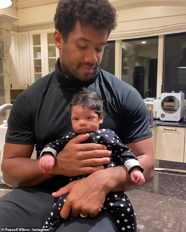 'He's so precious - gosh, he's so beautiful': 'Look at the fellas, so cute! Late night chilling,' Ciara could be heard saying from behind the camera