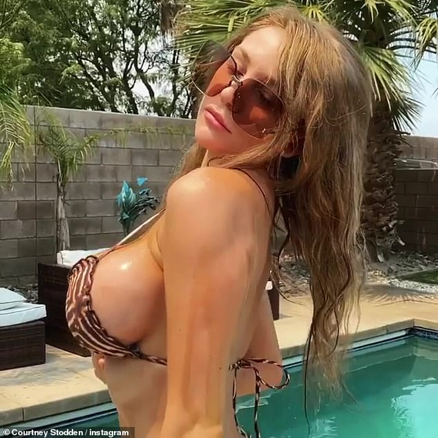 Wild thing: Last month, Courtney turned up the heat in a sizzling Instagram video, determined to grab attention for her latest single