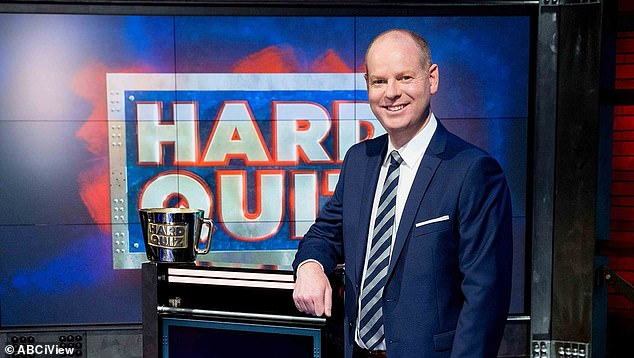 The numbers: The figures put it behind Channel Nine's The Block, which pulled 651,000 metro viewers, and ABC's Hard Quiz, which was the top entertainment program of the night with 672,000 metro viewers. Pictured: Hard Quiz host, Tom Gleeson