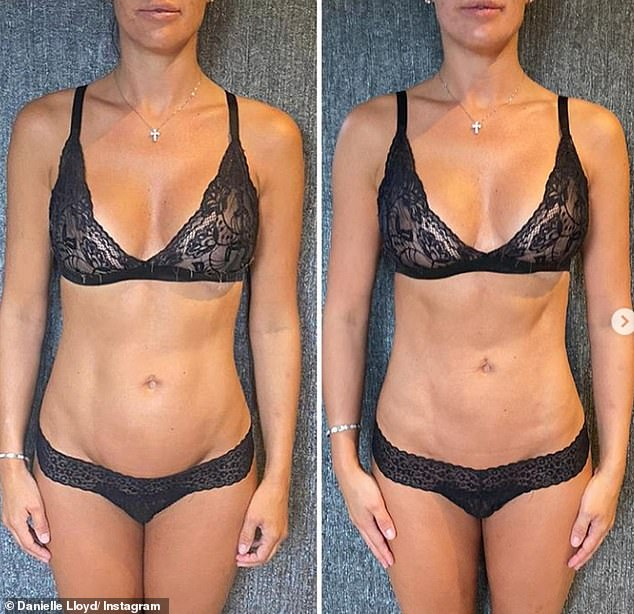 Changing shape:Danielle Lloyd has unveiled her 10 day body transformation