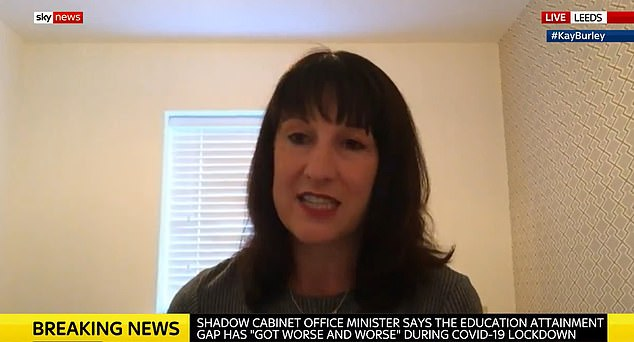 Shadow minister Rachel Reeves told Sky News (pictured) that opinion polls north of the border were 'pretty dire' for Labour, with crucial Holyrood elections looming next May