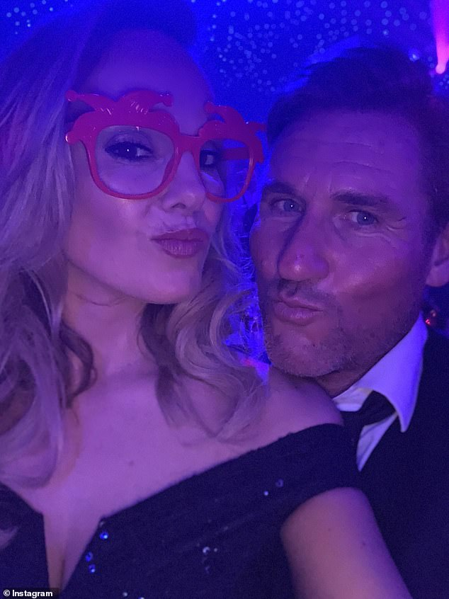 Change of plan: Michelle confirmed her romance with ex- Crystal Palace owner Simon Jordan in July 2019 (pictured) on social media