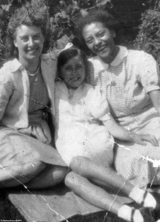 Author Stephen Bourne's aunt, Esther Bruce - pictured, right, in 1942 - was a fire watcher on the roof of Brompton Hospital, south-east of Kensington, where she worked as a ward cleaner