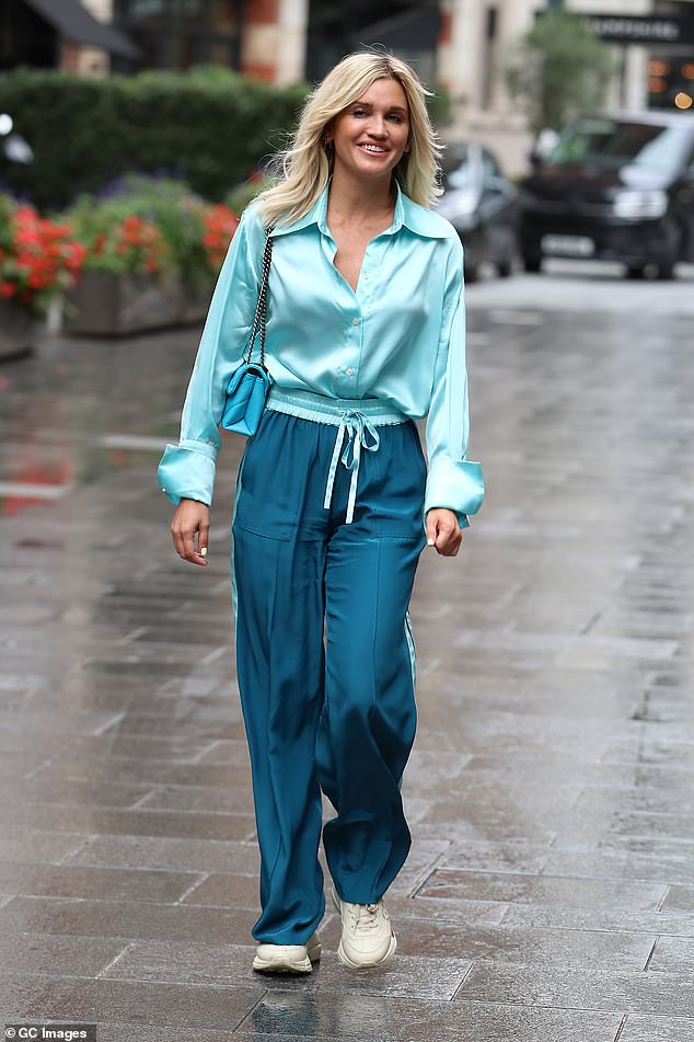 Work it: Ashley oozed confidence as she strutted down the street in her eye-catching ensemble by Serena Bute London