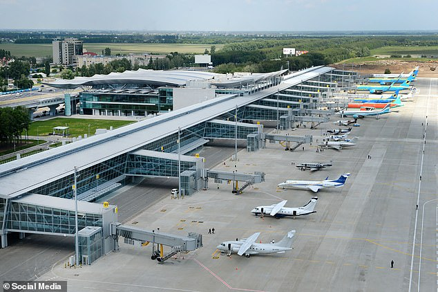 Boryspil Airport in Kyiv (above), where the Ukraine International Airlines plane had landed, have confirmed the incident