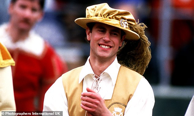 Sadly the show itself was anything but a knockout; while it raised £1million for good causes, the Queen is said to have disapproved of the event while her courtiers advised against it. Pictured: Prince Edward