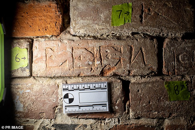 Graffiti engraved by soldiers on a military prison wall in Hobart more than 150 years ago has been discovered by accident during renovations