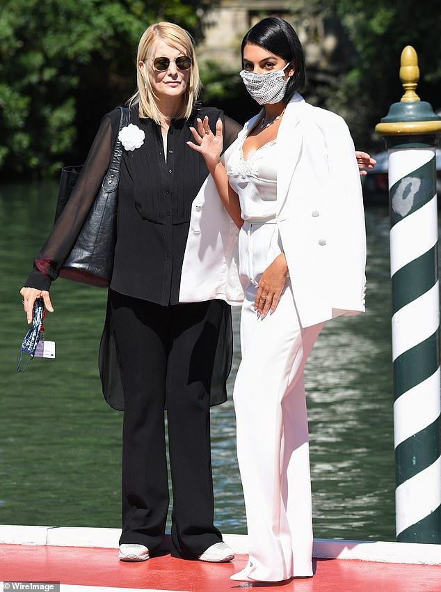 Cautious: She also took cautious measures as at one stage she was seen wearing a face mask amid the Covid-19 crisis