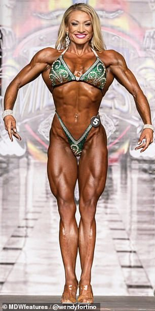 Impressive: Since taking up bodybuilding in 2008, Wendy has gone on to win several championship titles with her enviable physique