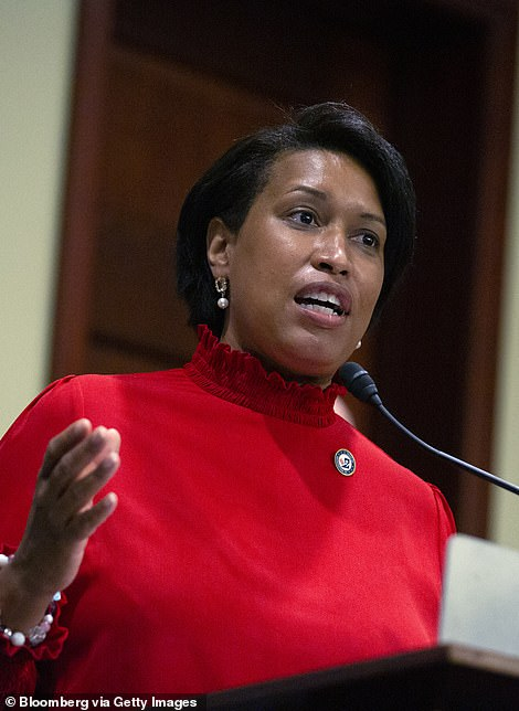 DC Mayor Muriel Bowser (pictured) who has backed the BLM movement, is yet to speak publicly on Wednesday's shooting