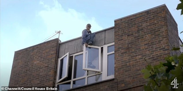 Charmain has to see to a man whose been using his fourth floor window as a front door using his stepladder since his house keys went missing (pictured)